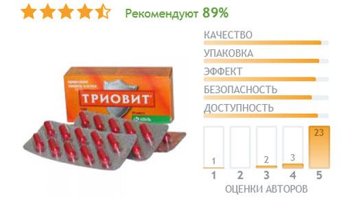 Отзывы о применении витаминного комплекса Триовит